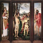 Hans Baldung (1484-1545)  St Sebastian Altarpiece  Oil on wood, 1507  47 5/8 x 30 7/8 inches (121.2 x 78.6 cm)  Germanisches Nationalmuseum, Nuremberg