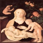 Hans Baldung (1484-1545)  Virgin of the Vine Trellis  Oil on panel  Private collection