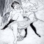 Alexander Alexandrovich Deyneka (1899-1969)  The Cabaret  Drawing, 1921  ?