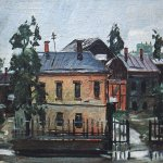 Alexander Alexandrovich Deyneka (1899-1969)  Cursk. After the rain  Oil on canvas, 1925  37,5x44,6 sm  Cursk picture gallery of a name of A.A. Deineka, Kursk, Russia