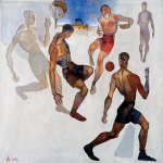 Alexander Alexandrovich Deyneka (1899-1969)  Football  Oil on canvas, 1924  ?