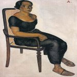 Alexander Alexandrovich Deyneka (1899-1969)  Girl on a chair, 1924