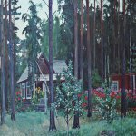 Alexander Alexandrovich Deyneka (1899-1969)  In the evening oat summer-house  Oil on canvas, 1952  Cursk picture gallery of a name of A.A. Deineka, Kursk, Russia