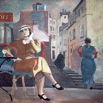 Alexander Alexandrovich Deyneka (1899-1969)  Paris. Cafe, 1935  Cursk picture gallery of a name of A.A. Deineka, Kursk, Russia