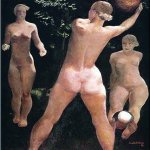 Alexander Alexandrovich Deyneka (1899-1969)  Play with a ball  Oil on canvas, 1932  123x123 sm  The State Tretyakov Gallery, Moscow, Russia
