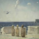 Alexander Alexandrovich Deyneka (1899-1969)  The future pilots  Oil on canvas, 1937  53 Гµ 66 sm  The State Tretyakov Gallery, Moscow, Russia