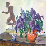 Alexander Alexandrovich Deyneka (1899-1969)  The Lilac  Oil on canvas, 1940 - 1950  77,8Гµ99,7 sm  Private collection