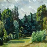 Alexander Alexandrovich Deyneka (1899-1969)  The park, 1935  Watercolor, 1935  34x54 sm