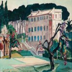 Alexander Alexandrovich Deyneka (1899-1969)  The villa in Rome  Paper, watercolor, 1965  48,5х58 sm  Private collection
