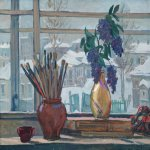 Alexander Alexandrovich Deyneka (1899-1969)  The window of a studio  Oil on canvas, 1947  65,5х90,7 sm  Private collection