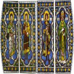 Duccio di Buoninsegna (c. 1255-1260 – c. 1318-1319)  Four Saints  Painted window, about 1287-1288  Cathedral, Siena, Italy