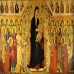 Duccio di Buoninsegna (c. 1255-1260 � c. 1318-1319)  Maesta Altarpiece  Gold and tempera on panel, about 1308-1311  370 x 450 cm  Museo dell�Opera del Duomo, Siena, Italy