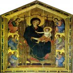 Duccio di Buoninsegna (c. 1255-1260 – c. 1318-1319)  Rucellai Madonna  Gold and tempera on panel, about 1285  450 x 290 cm  Galleria degli Uffizi, Florence, Italy