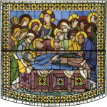 Duccio di Buoninsegna (c. 1255-1260 – c. 1318-1319)  Death of the Virgin  Painted window, about 1287-1288  Cathedral, Siena, Italy