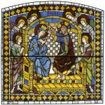 Duccio di Buoninsegna (c. 1255-1260 – c. 1318-1319)  Coronation of the Virgin  Painted window, about 1287-1288  Cathedral, Siena, Italy