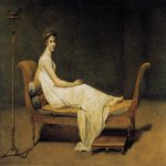 Jacques-Louis David (1748 � 1825)  Portrait of Madame Récamier  Oil on canvas, 1800  174 cm × 224 cm (68.50 in × 88.58 in)  Louvre, Paris, France