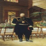 Nikolai Dmitriyev-Orenburgsky (1837 - 1898)   Portrait of Emperor Alexander III  Oil on canvas,  1896  310 x 140 cm  State Historical Museum, Russia