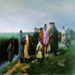 Nikolai Dmitriyev-Orenburgsky (1837 - 1898)   Drowned in the village  Oil on canvas  75 x 107.5  cm  The Russian Museum, St. Petersburg, Russia