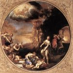 Winter (The Triumph of Diana)  1616-17  Oil on canvas, diameter 154 cm  Galleria Borghese, Rome