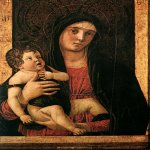 Giovanni Bellini (c. 1430 – 1516)  Madonna with Child  c. 1475  Tempera on panel, 75 x 50 cm  Madonna dell'Orto, Venice, Italy