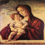 Giovanni Bellini (c. 1430 – 1516)  Madonna with Child  c. 1475  Tempera on panel, 77 x 57 cm  Museo di Castelvecchio, Verona, Italy