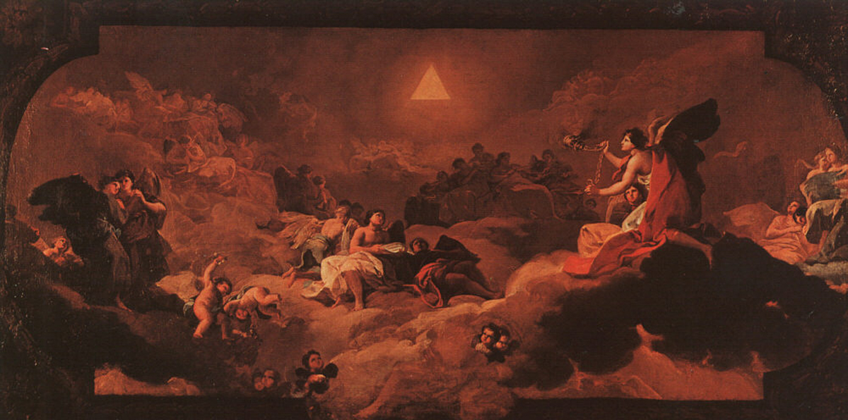 Francisco de Goya (1746-1828)  The Adoration of the Name of The Lord  Fresco, 1772  Cathedral of El Pilar, Saragossa, Spain