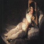 Francisco de Goya (1746-1828)  Clothed Maja  Oil on canvas, 1800-1803  Museo del Prado, Madrid, Spain