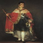 Francisco de Goya (1746-1828)  Ferdinand VII in his Robes of State  Oil on canvas, 1814  Museo del Prado, Madrid, Spain