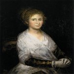 Francisco de Goya (1746-1828)  Josefa Bayeu (or Leocadia Weiss)  Oil on canvas, 1798  31 7/8 x 22 inches (81 x 56 cm)  Museo del Prado, Madrid, Spain