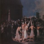 Francisco de Goya (1746-1828)  Procession of Flagellants on Good Friday  Oil on wood, 1793  Academy of San Fernando, Madrid