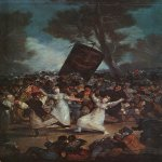 Francisco de Goya (1746-1828)  The Burial of the Sardine  Oil on wood, 1793  Academy of San Fernando, Madrid, Spain