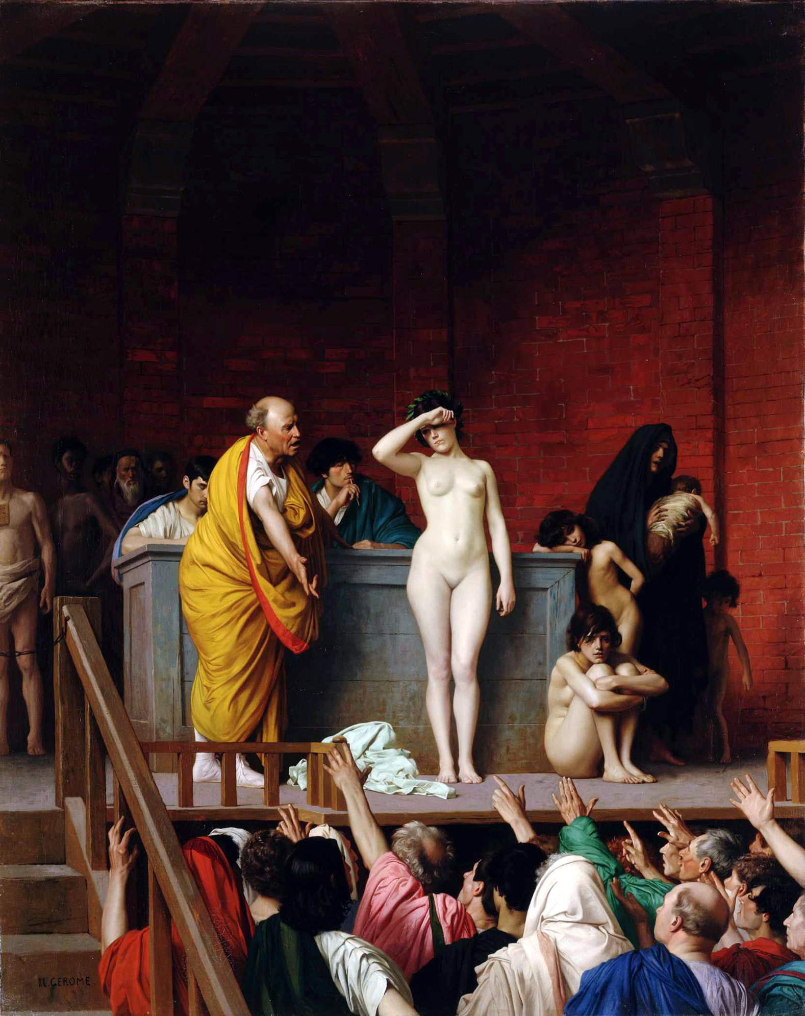 Harem Slave Auction http://allart.biz/photos/image/jean_leon_gerome_109_slave_auction.html