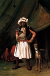 "Jean-Leon Gerome (Jean Leon Gerome) (1824-1904) Bashi­Bazouk and his Dog Oil on canvas, 1865 34.3 x 49 cm (13½"" x 19.29\"") Private collection"