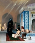 Jean-Leon Gerome (Jean Leon Gerome) (1824-1904) Harem Pool Oil on canvas Hermitage (St Petersburg, Russian Federation)