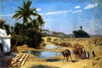 "Jean-Leon Gerome (Jean Leon Gerome) (1824-1904) Caravan Oil on panel 62.3 x 42.6 cm (24.53"" x 16.77\"") Private collection"