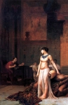 Jean-Leon Gerome (Jean Leon Gerome) (1824-1904) Cleopatra before Caesar Oil on canvas, 1866 Lost