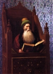 Jean-Leon Gerome (Jean Leon Gerome) (1824-1904) Mufti Reading in His Prayer Stool Oil on canvas, c1900 54.61 x 73.66 cm (21½