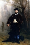 Jean-Leon Gerome (Jean Leon Gerome) (1824-1904) Portrait of Eduoard Delessert Oil on canvas, 1864 22 x 32 cm (8.66