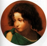 Jean-Leon Gerome (Jean Leon Gerome) (1824-1904) Portrait of a Young Boy Oil on canvas Private collection