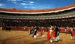 "Jean-Leon Gerome (Jean Leon Gerome) (1824-1904) Plaza de Toros, The Entry of the Bull Oil on panel, 1886 76.2 x 45.7 cm (30"" x 17.99\"") Private collection"