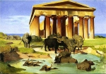 "Jean-Leon Gerome (Jean Leon Gerome) (1824-1904) View of Paestum Oil on canvas, 1852 81 x 66.5 cm (31.89"" x 26.18\"") Private collection"