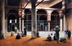 "Jean-Leon Gerome (Jean Leon Gerome) (1824-1904) Interior of a Mosque Oil on canvas, 1870 89 x 57 cm (35.04"" x 22.44\"") Memorial Art Gallery of the University of Rochester (Rochester, New York, United States)"