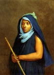 Jean-Leon Gerome (Jean Leon Gerome) (1824-1904) Moroccan Girl Oil On Canvas 41.3 x 32.4 cm (16.26