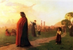 "Jean-Leon Gerome (Jean Leon Gerome) (1824-1904) Dante (He Hath Seen Well) Oil on panel 55.9 x 37.8 cm (22.01"" x 14.88\"") Private collection"