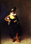 "Jean-Leon Gerome (Jean Leon Gerome) (1824-1904) Personnage � Louis XIII Oil on canvas 24.4 x 33 cm (9.61"" x 12.99\"") Private collection"