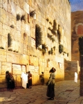 "Jean-Leon Gerome (Jean Leon Gerome) (1824-1904) Solomon\'s Wall Jerusalem Oil on canvas 73.7 x 92.4 cm (29.02"" x 3\' .38\"") Private collection"