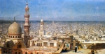 Jean-Leon Gerome (Jean Leon Gerome) (1824-1904) View of Cairo Oil on canvas 130.5 x 69.8 cm (4' 3.38