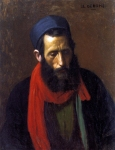 "Jean-Leon Gerome (Jean Leon Gerome) (1824-1904) Portrait D\'Un Juif Oil On Canvas 41.5 x 32.5 cm (16.34"" x 12.8\"") Private collection"