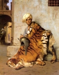 "Jean-Leon Gerome (Jean Leon Gerome) (1824-1904) Pelt Merchant of Cairo Oil on canvas, 1869 50 x 61.5 cm (19.69"" x 24.21\"") Private collection"