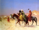 "Jean-Leon Gerome (Jean Leon Gerome) (1824-1904) Arabs Crossing the Desert Oil on canvas, 1870 56 x 41.2 cm (22.05"" x 16.22\"") Private collection"